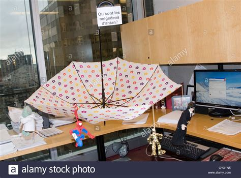 Office Desk Umbrella An Office Prank Umbrella On A Desk Toys Spread