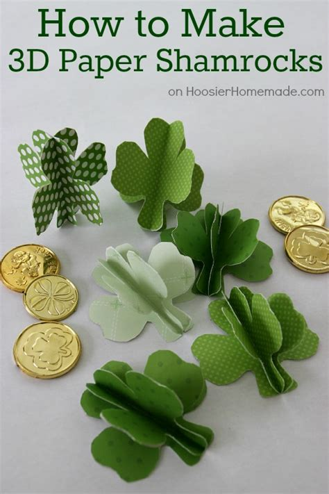 How To Make Paper Shamrocks - how to make 3d paper shamrocks hoosier