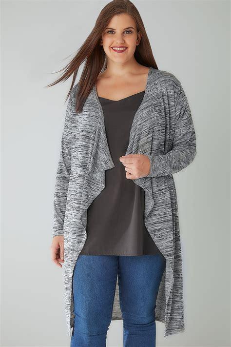 Special Cardi Basic 3tone Pink Cardigan 0109 grey marl space dye longline waterfall cardigan plus size 16 to 36