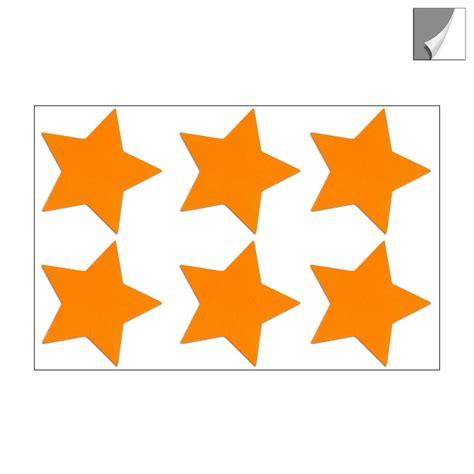 Reflektor Aufkleber Orange by Reflektor Sterne Aufkleber Set