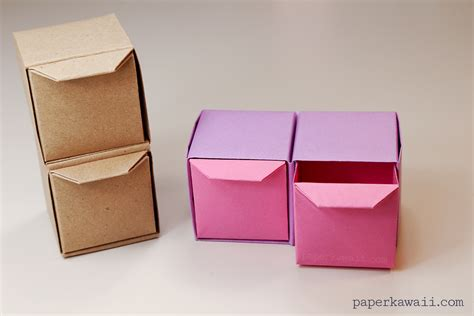 Origami Cool Box - learn how to make some cool origami pull out drawers
