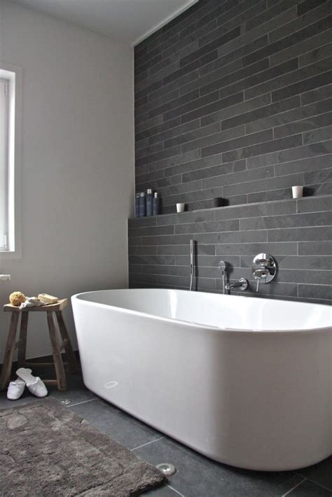 Grey Accent Wall Bathroom bathroom compact grey wall tile accent background paired