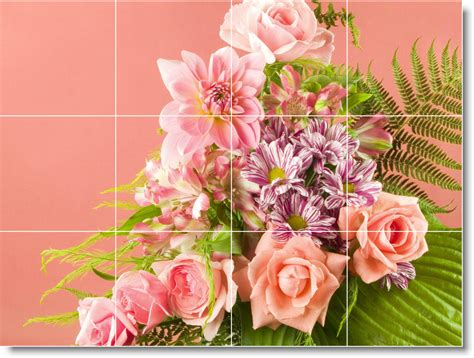 flower wall tiles flower photo wall tile mural f031