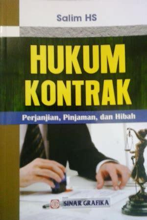 jual buku hukum kontrak perjanjian pinjaman dan hibah toko buku diskon togamas togamas