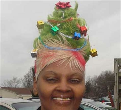christmas tree hair do from the mind of a mad the most unique tree post