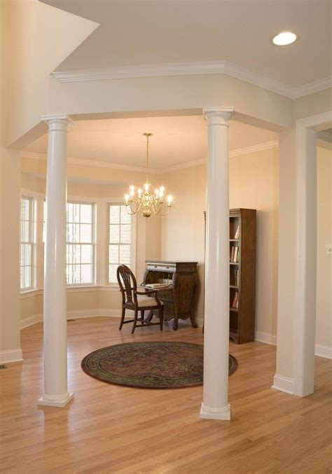 living room columns  create rich details