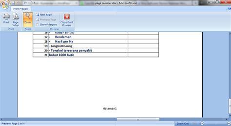 cara membuat nomor halaman di microsoft office 2010 belajar membuat nomor halaman di microsoft excel kusnendar