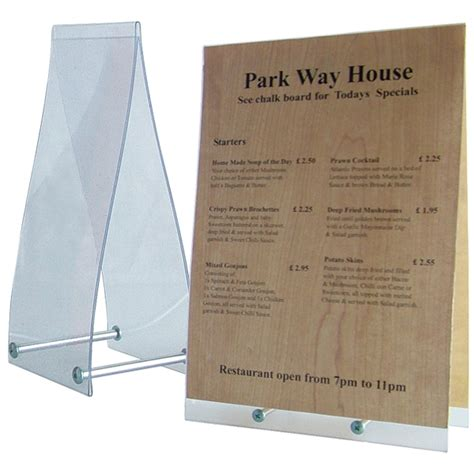 Topi Hotel Topi Plastik table top sign holders plastic display stand