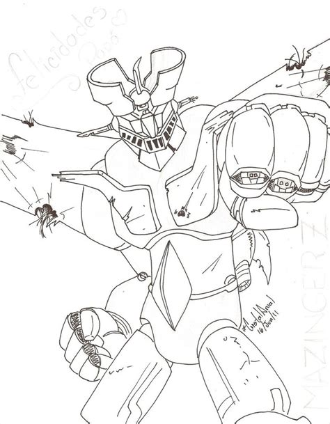 Mazinger Z Drawing by Mazinger Z By Cristalarual On Deviantart