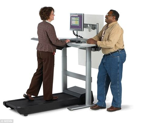 Walk While You Work With The Levine Treadmill Workstation by Save Yourself From Sitting Disease Use A Stand Up Desk