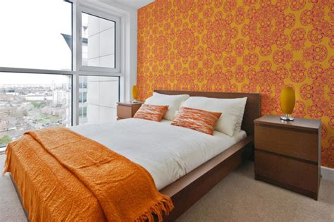 dia de los muertos bedroom d 237 a de los muertos wallpaper modern bedroom detroit by the detroit wallpaper co