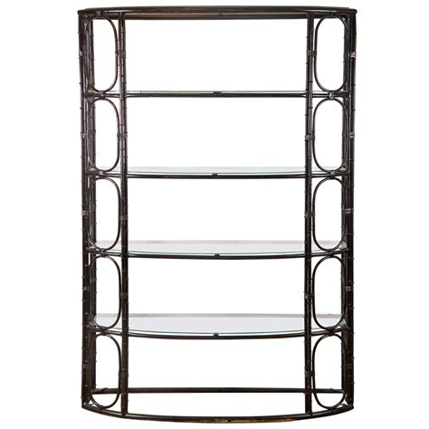 etagere 8 cases but steel bamboo etagere in black for sale at 1stdibs