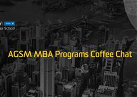 Mba Coffee Chat by About Unsw Business School
