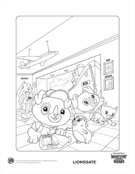 marvelous museum of opposite words coloring page in