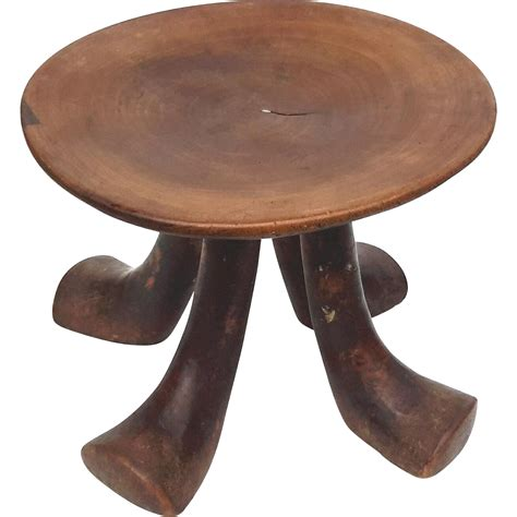 vintage wooden stool antique four leg wooden stool from