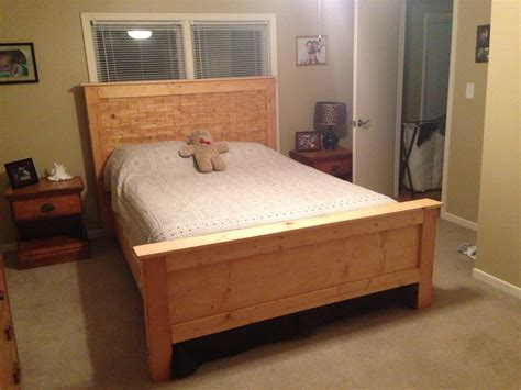 diy wood shim bed plans queen ana white