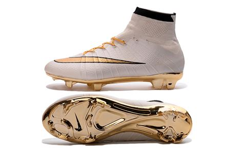 gold football shoes nike mercurial superfly football cleats gold white black