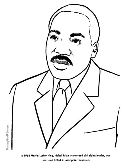 printable coloring page of martin luther king jr martin luther king jr coloring pages for kids coloring home