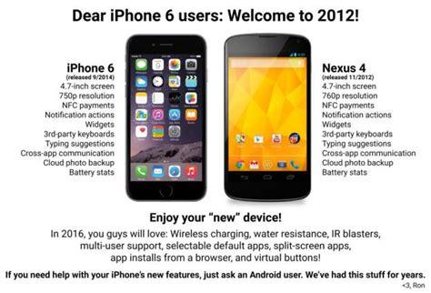 iphone v android apple vs android iphone 6 is just an nexus 4 eteknix