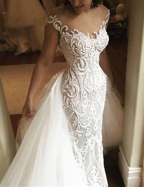 beaded lace wedding dress best 25 detachable wedding dress ideas on