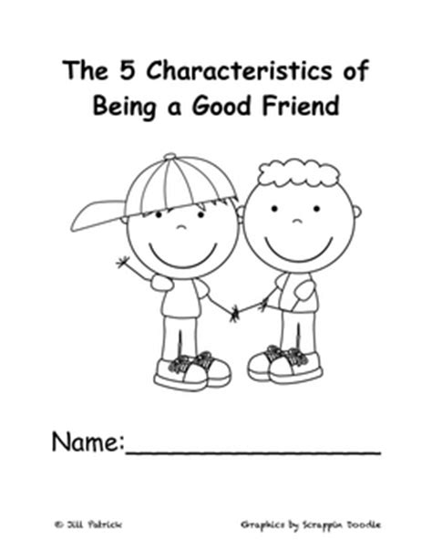 five characteristics of being a good friend by the