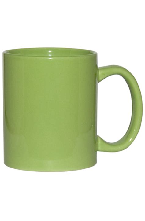 Handle Green Coffee 11 oz c handle coffee mug lime green wp3419s 366