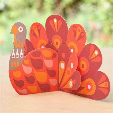 turkey paper craft net paper pattern crafts
