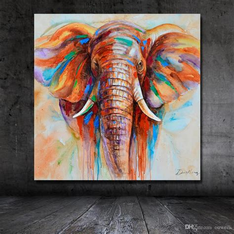 hand painted oil painting african wild animal elephant wall pictures oil painting large