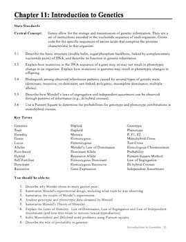 study guide section 1 introduction to biology biology chapter 11 introduction to genetics study guide