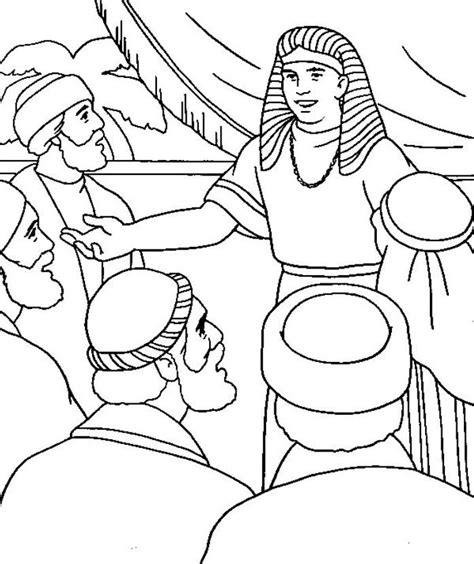 coloring pages joseph and his brothers joseph forgives his brothers coloring page coloring home