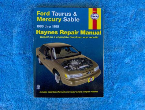 service manuals schematics 1996 mercury sable spare parts catalogs purchase haynes 1996 99 ford taurus mercury sable repair manual motorcycle in clinton