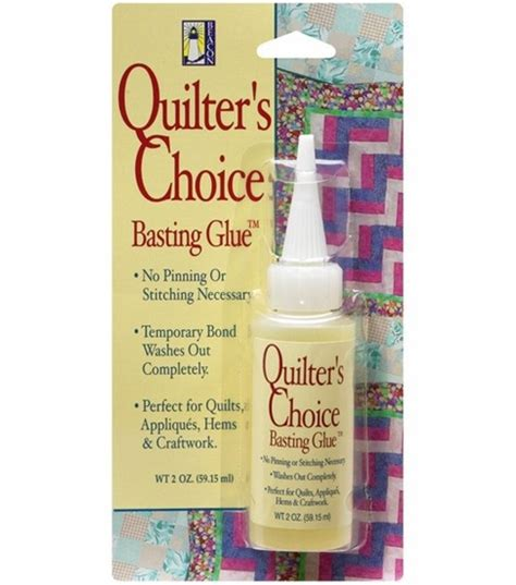 Glue Basting A Quilt by Quilter S Choice Basting Glue Jo