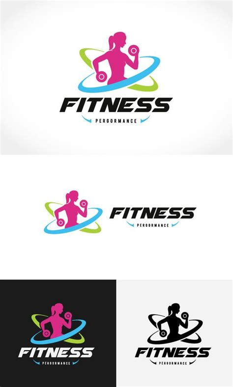 fitness logo templates fitness logo by pig shop on creativemarket logo