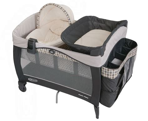 Graco Pack N Play With Bassinet And Changing Table Graco Newborn Napper Vance Elite Travel Bassinet Crib Playard Pack Play Pen New Ebay