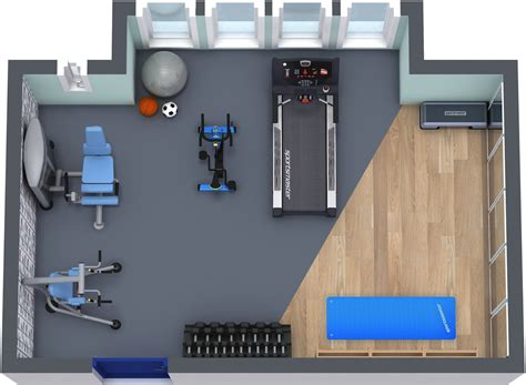 Garage With Apartment Plans by Home Gym Floor Plan Roomsketcher