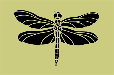 dragonfly template dragonfly stencil