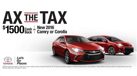 Marina Toyota Service It S Time To Ax The Tax At Marina Toyota Marina