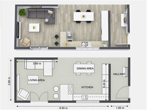 kitchen layout floor plans plan your kitchen design ideas with roomsketcher