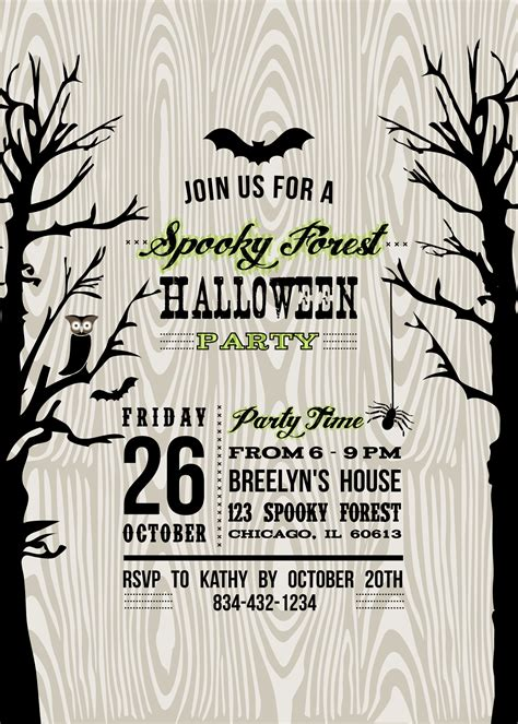 free printable halloween invitations templates www