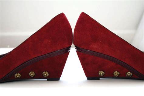Sepatu Wedges Stud Black Vintage diy studded wedges