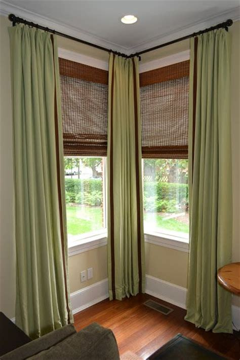 Corner Curtain Rod Ideas Decor 17 Best Ideas About Corner Window Treatments On Pinterest Corner Window Curtains Corner
