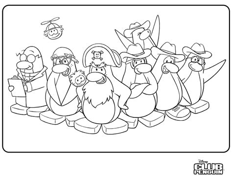 Coloring Pages Ice Ice Penguin Club Penguin Coloring Pages