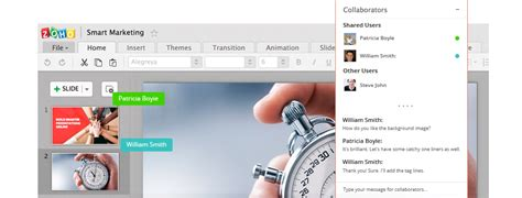 together workflow editor collaborate on presentation review together