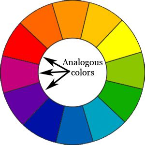 analogous color wheel blue and yellow evergreens for winter color