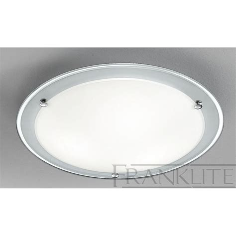 Flush Glass Ceiling Lights Cf5664 Flush Ceiling 3 Light Glass Chrome