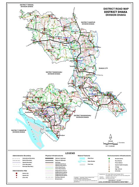 map of dhaka city local government engineering department lged