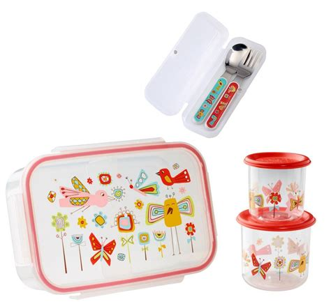 sectioned lunch containers sugarbooger divided lunch box silverware sm snack storage