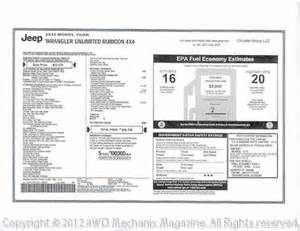 Jeep Window Sticker Moses Ludel S 4wd Mechanix Magazine Best 4wd Suv Of The