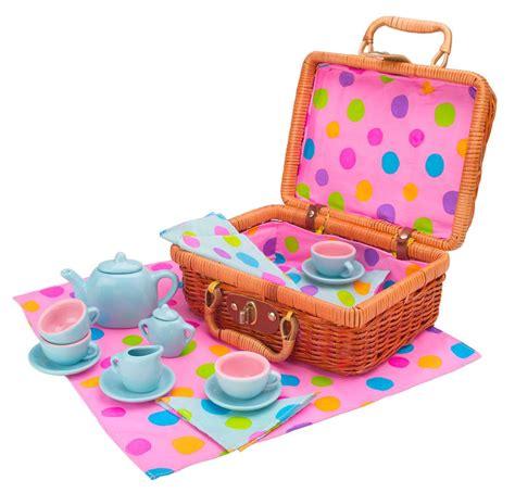 Set For alex toys tea set basket toys