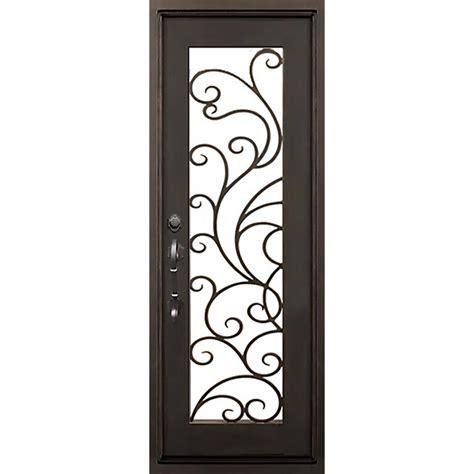 Wrought Iron Exterior Door Hardware Florida Iron Doors 40 In X 82 In Islamorada Bronze